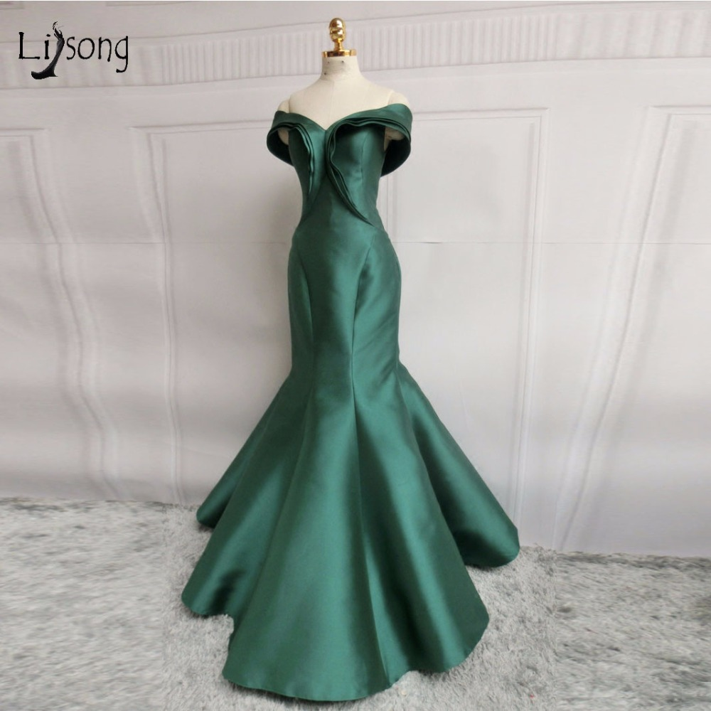Abendkleider скромные зеленые длинные вечерние платья русалки 2018 скидка плечевой корсет вечерние платья большого размера vestido de festa Longo