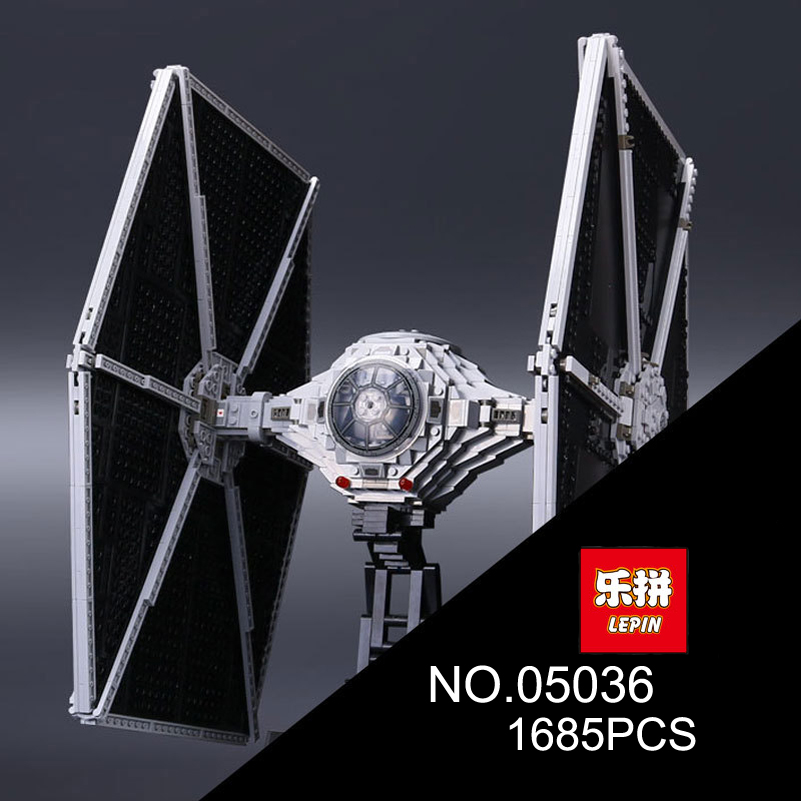 1685pcs Tie Fighter Model Blocks Toys Lepin Star Series War Building Blocks Set Compatible Education Gifts For Children 05036 in stock lepin 23015 485pcs science and technology education toys educational building blocks set classic pegasus toys gifts