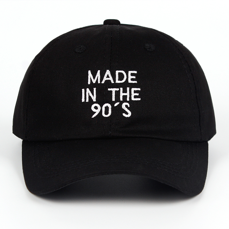 2018 New MADE IN THE 90'S Embroidery Dad Hat 100% Cotton Women Men Fashion Baseball Cap Snapback MADE IN THE 90 S Summer Caps