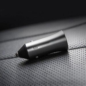 Image 2 - Original Xiaomi Car Charger 18W Max QC3.0 Full Metal Brass Housing Ring Light Dual USB Smart Port Quick Charge 9V=2A 5V=2.4A