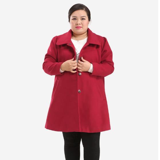 Dames Manteaux Manches Surdimensionné Tunique rouge Cachemire Noir D'hiver Longues Turn Femme À Manteau Femmes Pour M179 Rétro down 2018 Sexy Plus Taille a5nqCw