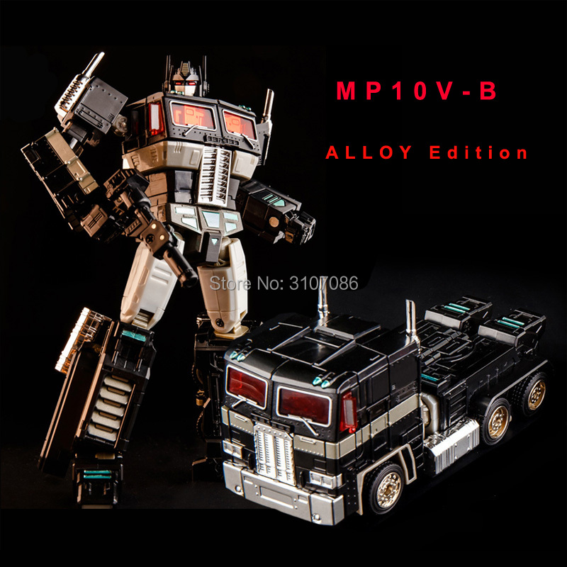 Transformation OP Commander MP10V Dark Black Alloy Metal Collection Voyager Backpack KBB Deformation Figure Robot Toys