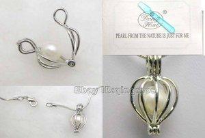 Image 3 - Qingmos 10 cajas de colgante de corazón y Perla para mujer, conjunto de regalo, gargantillas, collar, colgante, amor, ostra