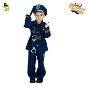 Image 2 - 할로윈 파티 어린이 경찰관 의상 코스프레 경력 경찰 복장 역할 놀이 멋진 소년의 경찰 의상