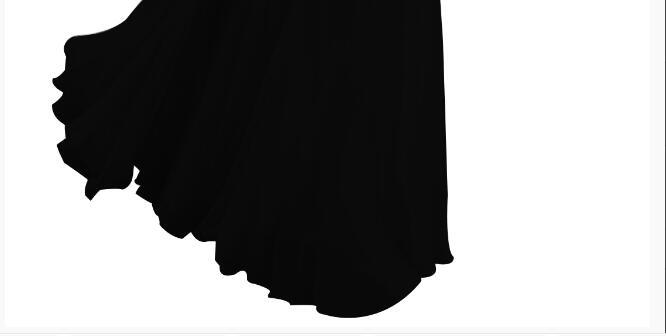 [Распродажа] шифоновое вечернее платье Длинное Элегантное длинное вечернее платье с блестками и бисером на шнуровке сзади милое - Цвет: Black