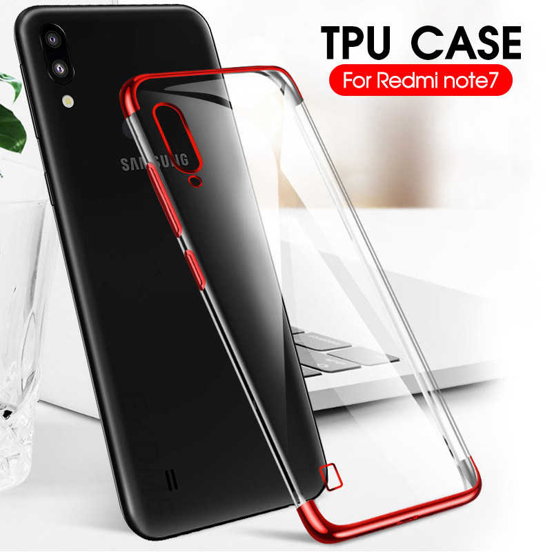 TPU Plating Phone Case For Samsung Galaxy M40 A60 M30 M20 M10 Clear Cover Case Shell Fundas For Samsun M 40 30 20 10 A 60 Coque