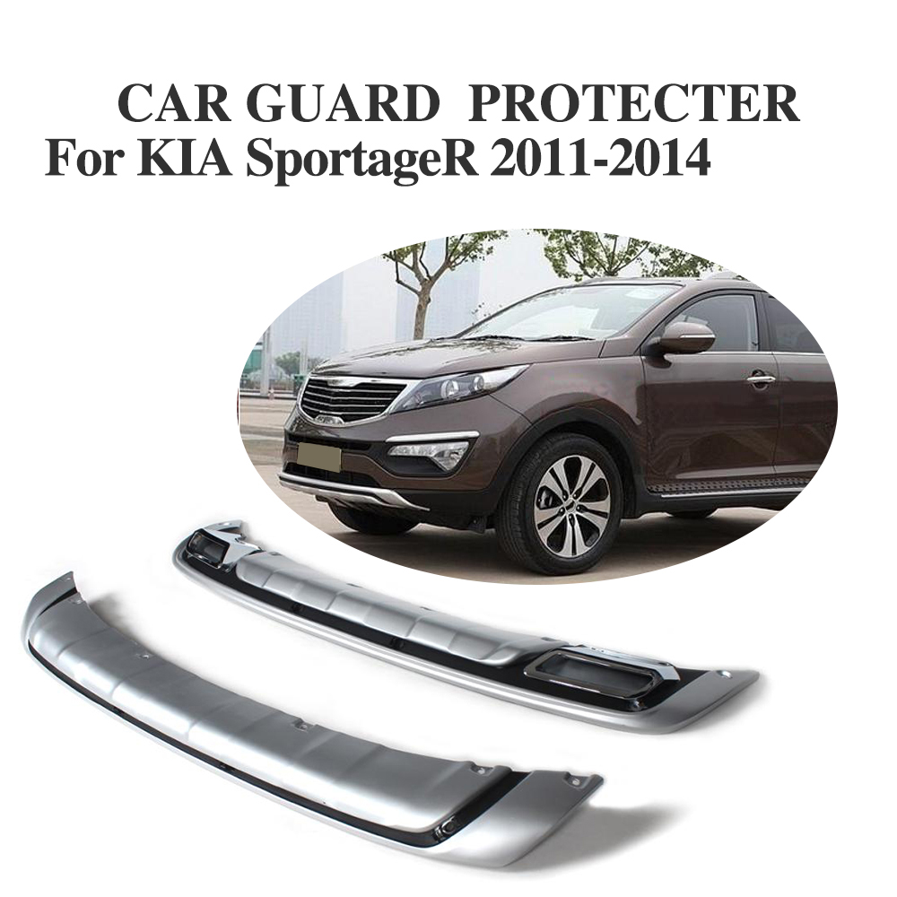 Pp front and rear bumper protector guard cover fit for kia sportage 2011 2014 2pcs