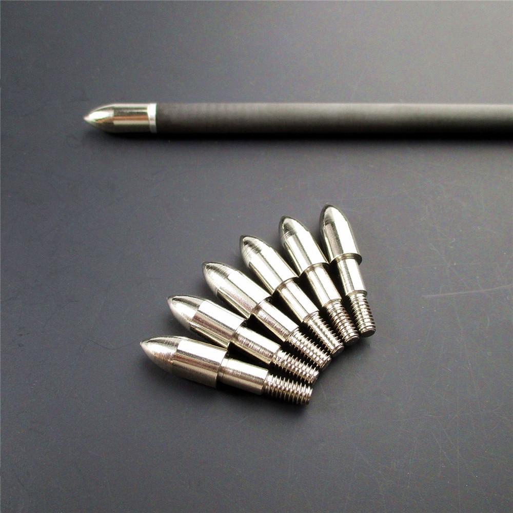 aço prata pontos 7.4mm o.d seta cabeças