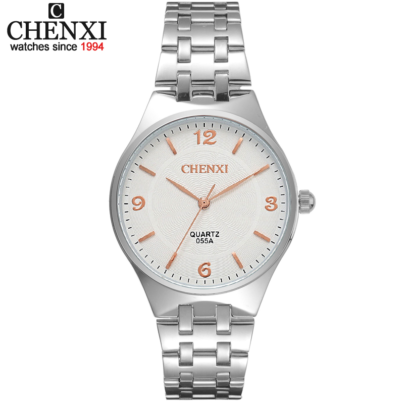 CHENXI Rose gold Timescale Lovers Watch Men Leisure Girl mens watch analog stainless steel quartz wristwatch male Womens watches