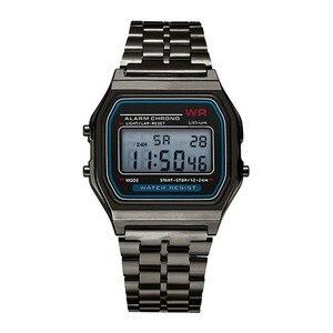 النساء ساعة رقمية 2019 الرجال LED اللباس الذهبي ساعة اليد Relogio Esportivo الرقمية للماء الرياضة الساعات Relojes دي موهير
