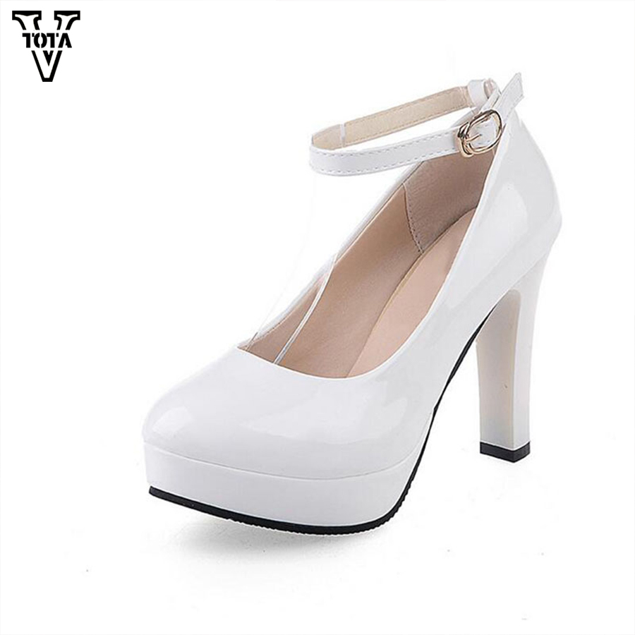 2017 Women Pumps High Heels High Quality Genuine Leather Shoes Women Paltform Shoes Woman High Heel-ed Shoes Women Shoes Q76