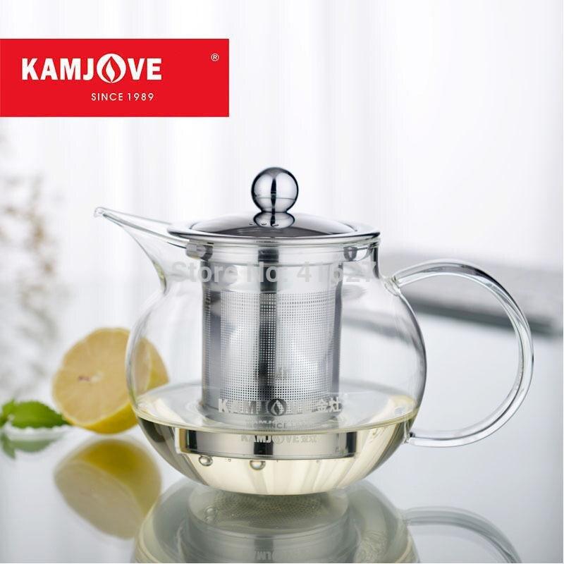 ٩(^‿^)۶Envío libre kamjove taza de té de cristal filtro tetera taza ...