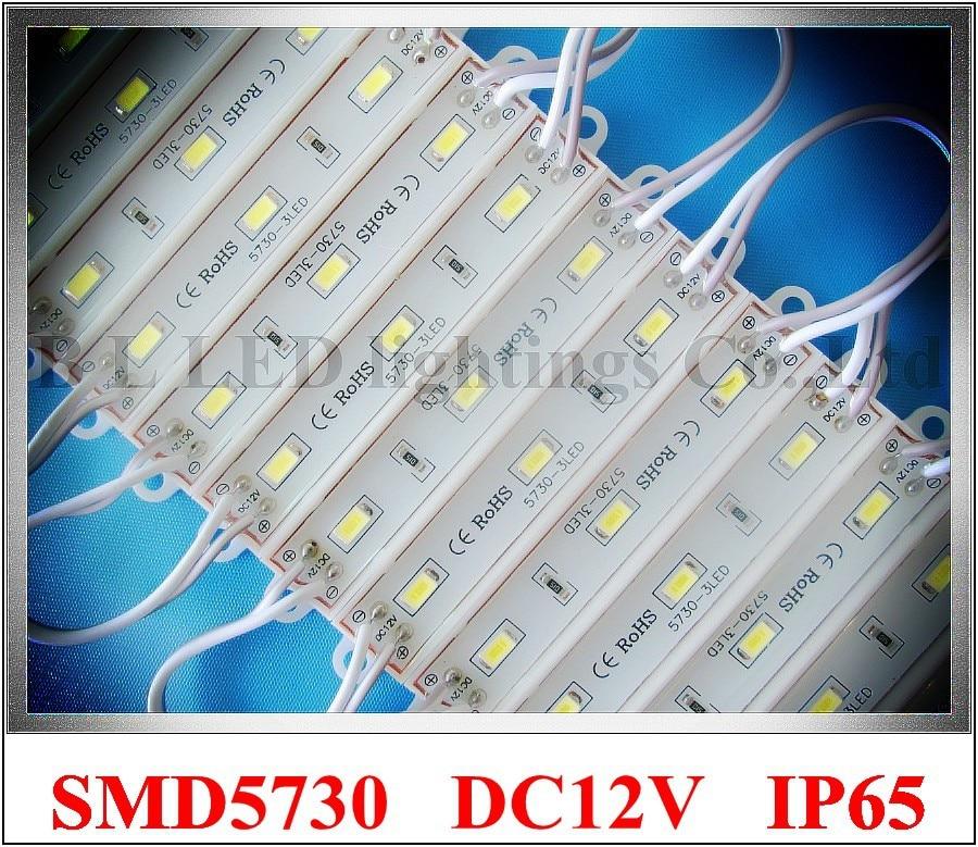 <font><b>LED</b></font> module SMD 5730 3led <font><b>Epoxy</b></font> waterproof 5730 <font><b>LED</b></font> module light back lighting for <font><b>sign</b></font> 3*SMD5730 1W 100lm IP66 75mm*12mm CE ROHS
