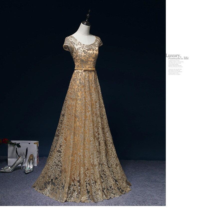 Walk Beside You Elegant Gold Evening Dresses Navy Blue Sequined Vestido De Festa Longo Party Prom Formal Christmas Dress