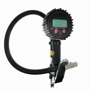 Image 1 - Inflação Do Pneu Do Caminhão Do Carro Digital para Armas Ferramenta de Monitoramento de Pressão de Ar Do Pneu Inflator Medidor Display LCD Dial Medidor Veículo Tester