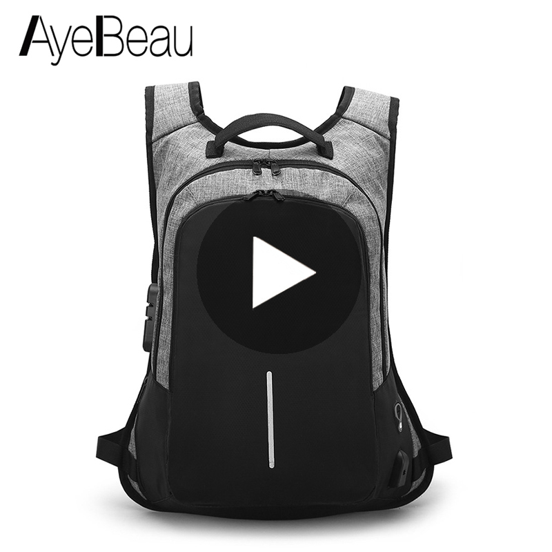 Waterproof USB Anti-Theft Laptop Anti Theft Backpack Male With Charging For Teenager Man Schoolbag School Bag Back Pack BagpackWaterproof USB Anti-Theft Laptop Anti Theft Backpack Male With Charging For Teenager Man Schoolbag School Bag Back Pack Bagpack