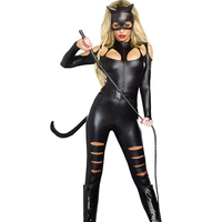 FGirl Cosplay Costume Sexy Halloween Costumes For Women One Size Sexy Cat Fight Costume FG30926