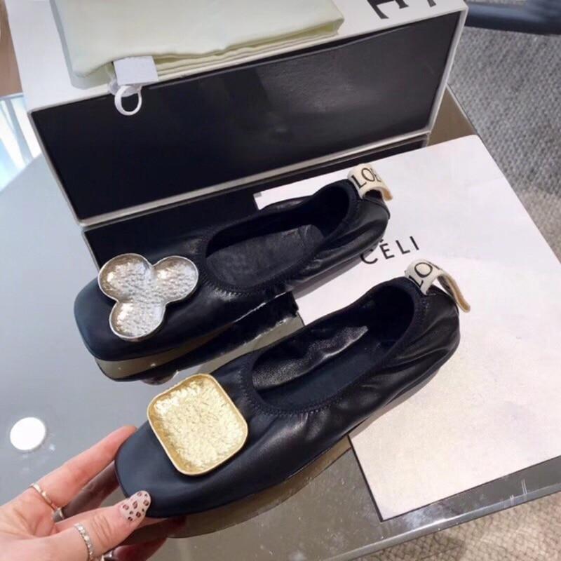 Boucle Européenne Bout Femmes Mujer Plates Carré De À Mocassins En Chaussures Plats Décontracté Bailarinas Cuir Grande Mocasines Rétro Strass Dame qr4SCwq5