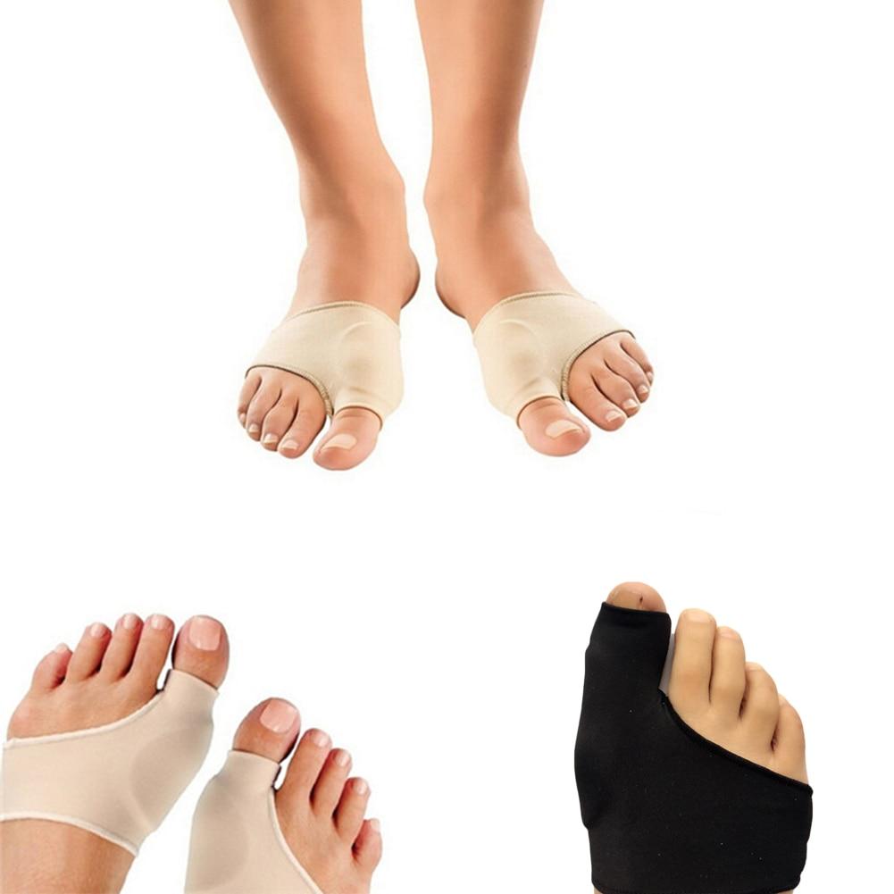 1 Pair Big Toe Hallux Valgus Corrector Orthotics Feet Care Bone Thumb Adjuster Correction Pedicure Socks Black Nude Straightener