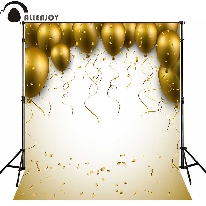 AllEnjoy photography background Birthday balloons golden kids photocall flags festival Professional photographic backdrop studio