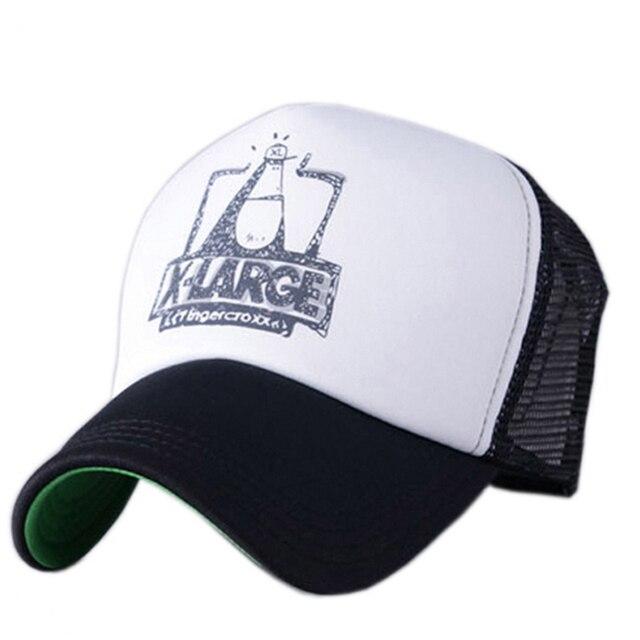 X-large Summer Male Female Trucker Hats Outdoor Casual Hip-hop Street Mesh  Hat Sport Cap Unisex Print Baseball Caps d9b4f6f75ee