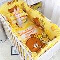 5 Шт./компл. Лесного Царства детское постельное белье бампер дышащий crib лайнер хлопка занавес кроватки бампер детская кроватка устанавливает детская кровать протектора