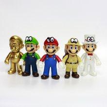 Super Mario Bros Figura de Ação Bonecas Modelo Crianças Brinquedos  Decoração Cos Soldado Japonês Vestido Cavalheiro e506553b4f