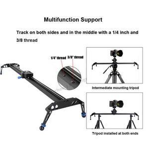 Image 2 - 60 cm/80 cm/100 cm Kamera Kaymak Profesyonel Video Parça Rulman Slider Dolly Sabitleyici raylı sistem DSLR için kamera Kamera