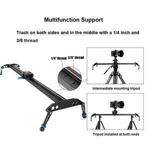 Image 2 - 60 cm/80 cm/100 cm 카메라 슬라이더 전문 비디오 트랙 베어링 슬라이더 dslr 카메라 캠코더 용 돌리 안정기 레일 시스템