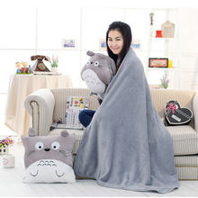 Cute blanket totoro hand warm Pillow Japan Anime Stuffed Plush Baby Soft Totoro Pillow Doll Toy Kid Valentine Gifts(China)