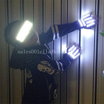 New Design LED Luminous Flashing Gloves Led Illuminate Party Glasses Stage Props For Children Birthday Gift