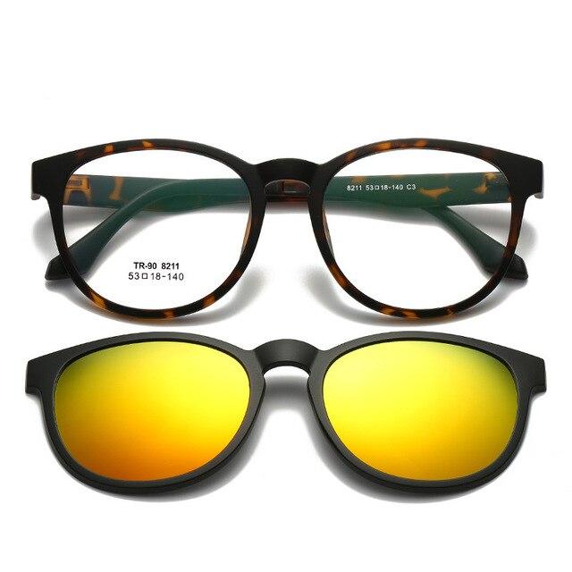 e14f2f3dc0d8a Vazrobe Magnético Clip sobre Óculos Polarizados TR90 UV400 para a Condução  de Óculos De Sol Das
