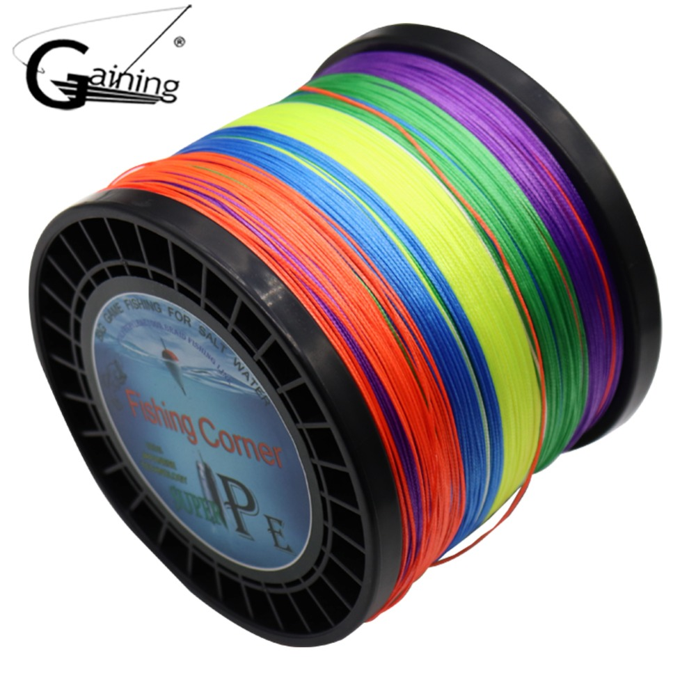 Gaining 16 Strands PE Braided Fishing Line 1000M Japan PE Fishing Line Multifilament Braided Line 59 94 127 136 220 275 308LB гель лак для ногтей posh posh po021lwxzn38