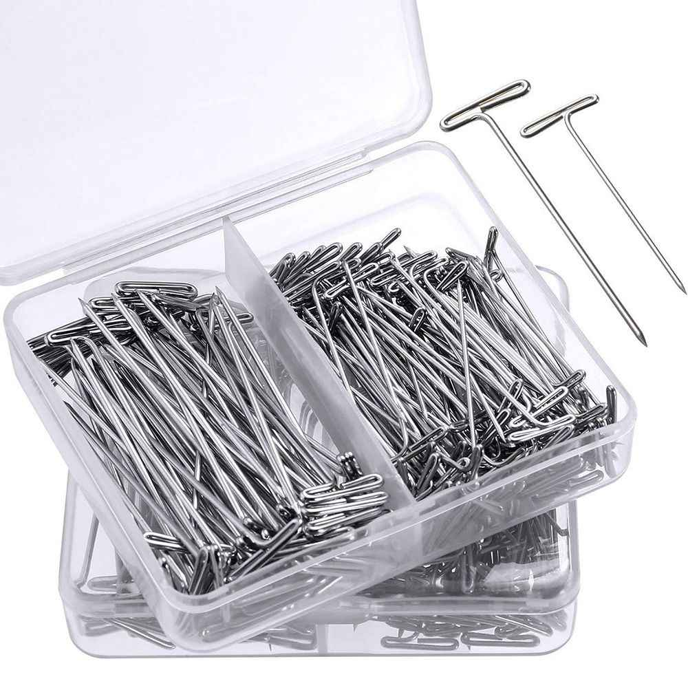 50 Pieces Wig T Pins for Holding T-needles 38/51mm Packs Wig Hair Extension Mold Fixing Styling Tools For Wig Display