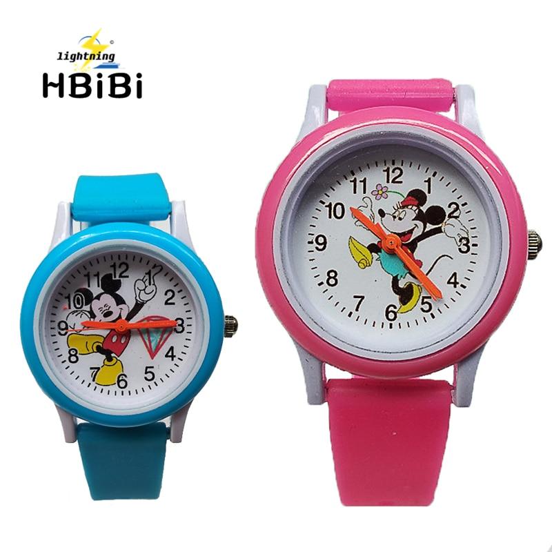 2019 New Listing ! 3D Mickey Children Watches For Boys Girls Clock Fashion Kids Quartz Wristwatches Child Watch Relogio Feminino