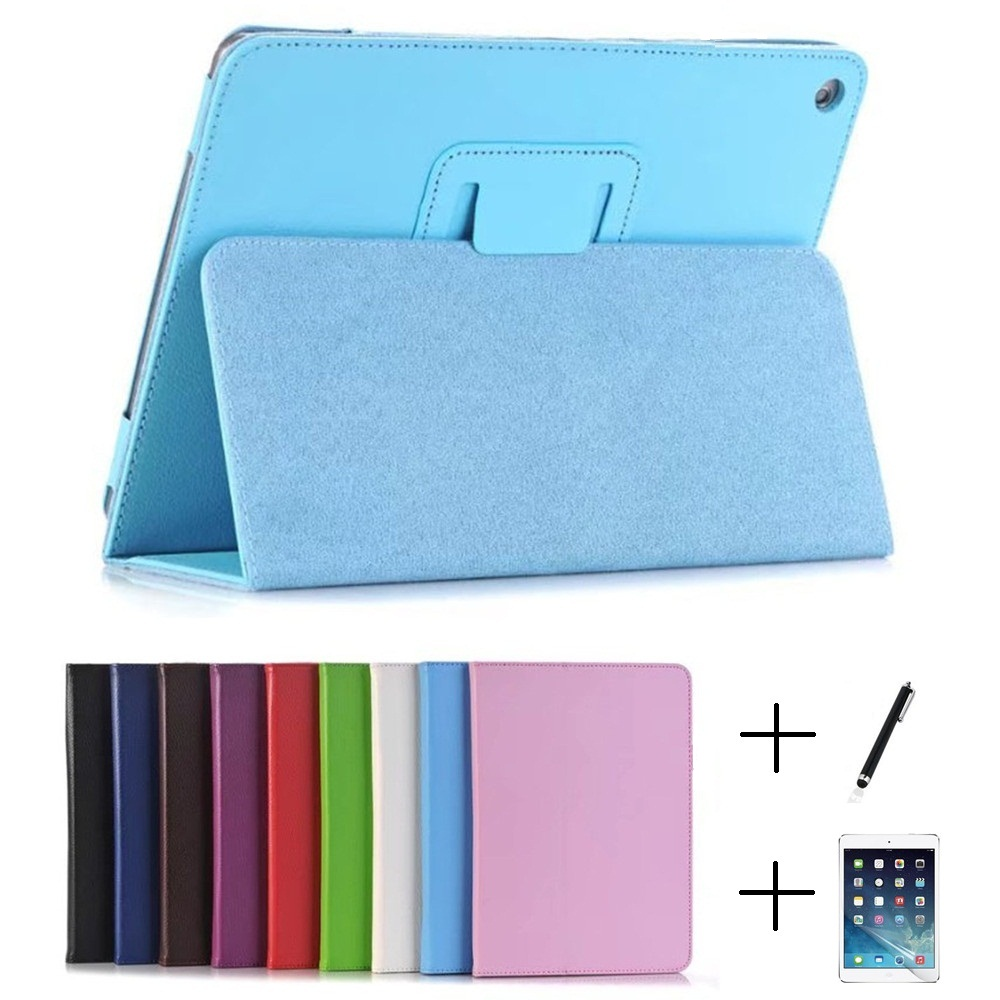 2 Section Foldable Litchi Pattern Protective Cover Case for iPad Air 1 Air 2 Pro 9