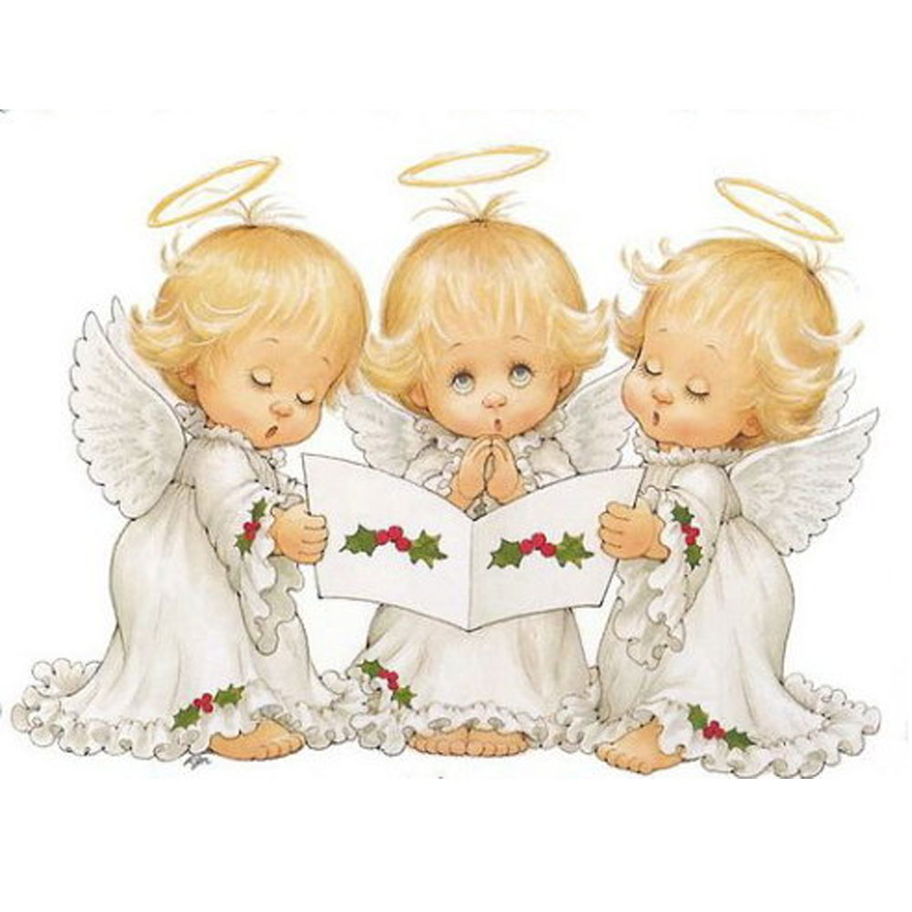 955400ca3767 1th 5D DIY Вышивка с кристаллами три Рождество ангел стены Стикеры картина  Алмазная мозаика diamond Вышивка