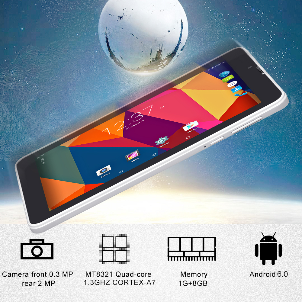 7'' E706 Yuntab GPS Double Mini SIM Card 1.3GHz Quad Core Cortex A7 IPS Dual Camera 1GB+8GB Phone Call Tablet PC