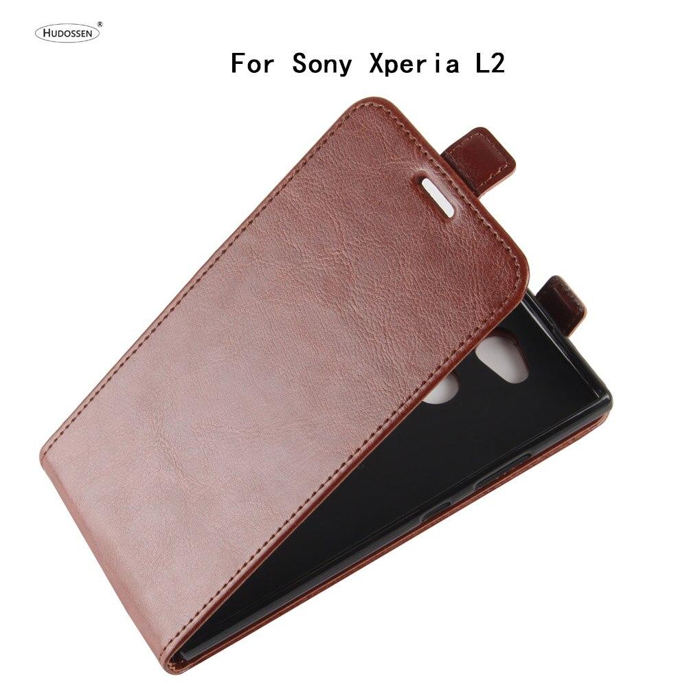 Hudossen para Sony Xperia L2 H3311 caso de lujo pu cubierta de cuero coque para Sony Xperia L2 Flip protector teléfono caso