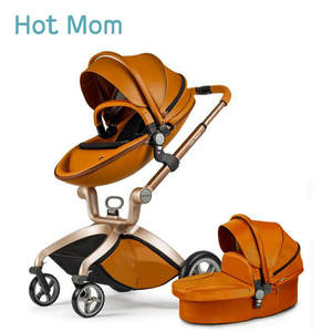 Sleeping-Basket Stroller Folded High-Landscape Brown White Russia Lie Or Can-Sit