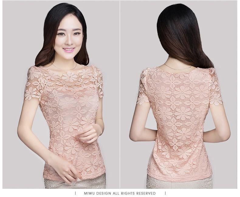 HTB1uZAnHXXXXXXCXFXXq6xXFXXXS - Short Sleeve Tee Shirt Top Clothing Lace Blouse Sexy Floral