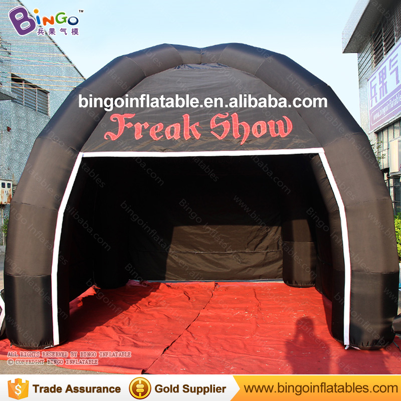 Free shipping all black inflatable 4 legs spider tent customized blow up tent for advertising with logo toy tents 6x3mh inflatable spider tent advertising inflatable tent inflatable party tent outdoor events tent