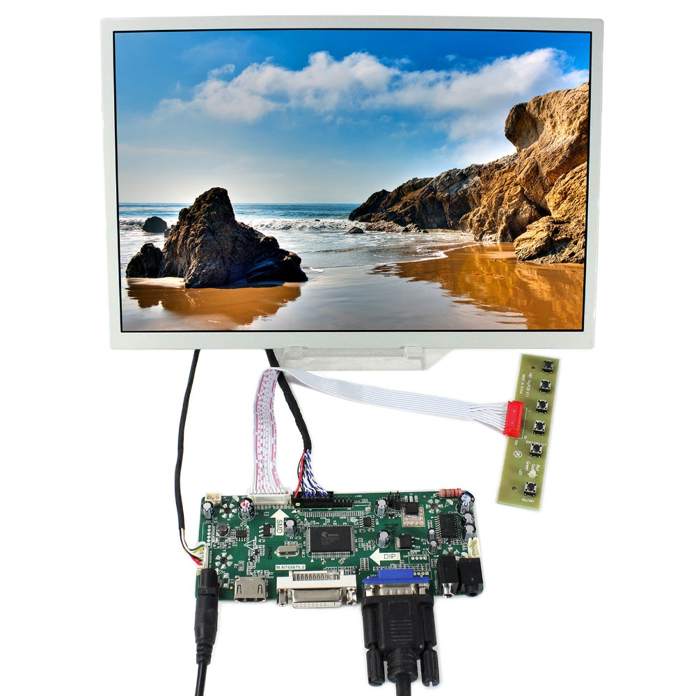 HDMI+DVI+VGA LCD Controller Board With 12.1inch  1280x800 LQ121K1LG52 LCD Screen vga lcd controller board 10 1b101ew05 1280x800 lcd screen