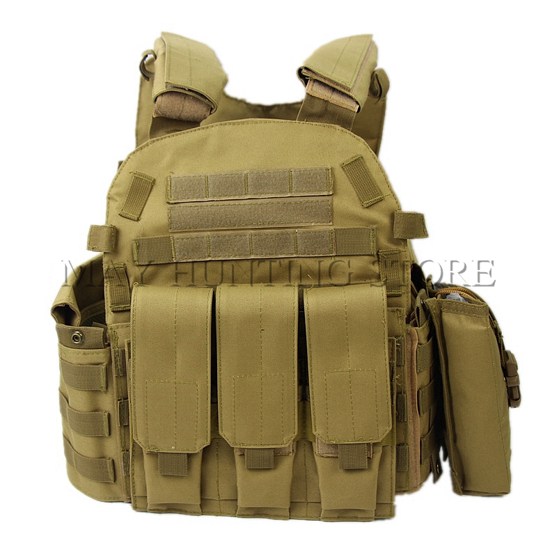 Desert Men Combat Military Clothes Tactical Vest With Radio Tool Magazine Pouch Molle System Outdoor Hunting Training Vest