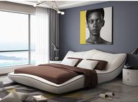 Европа и Америка натуральная кожаная кровать рама Современные Мягкие кроватки мебель для спальни cama muebles de dormitorio/camas quarto