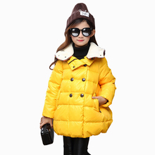 Tribros 2016 Winter Girls Children Cartoon Hooded Outerwear Snowsuit Baby Clothing Coats Jackets Warm Clothes Kids