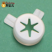 Smile Boy Magic Modeling Lid For Ice Cream Machine High Quality Soft Ice Cream Modeling Cap Ice Cream Maker Part Plastic Nozzle single front head panel old version of ice cream machine with 1 nozzle replacement spare part of soft ice cream machine