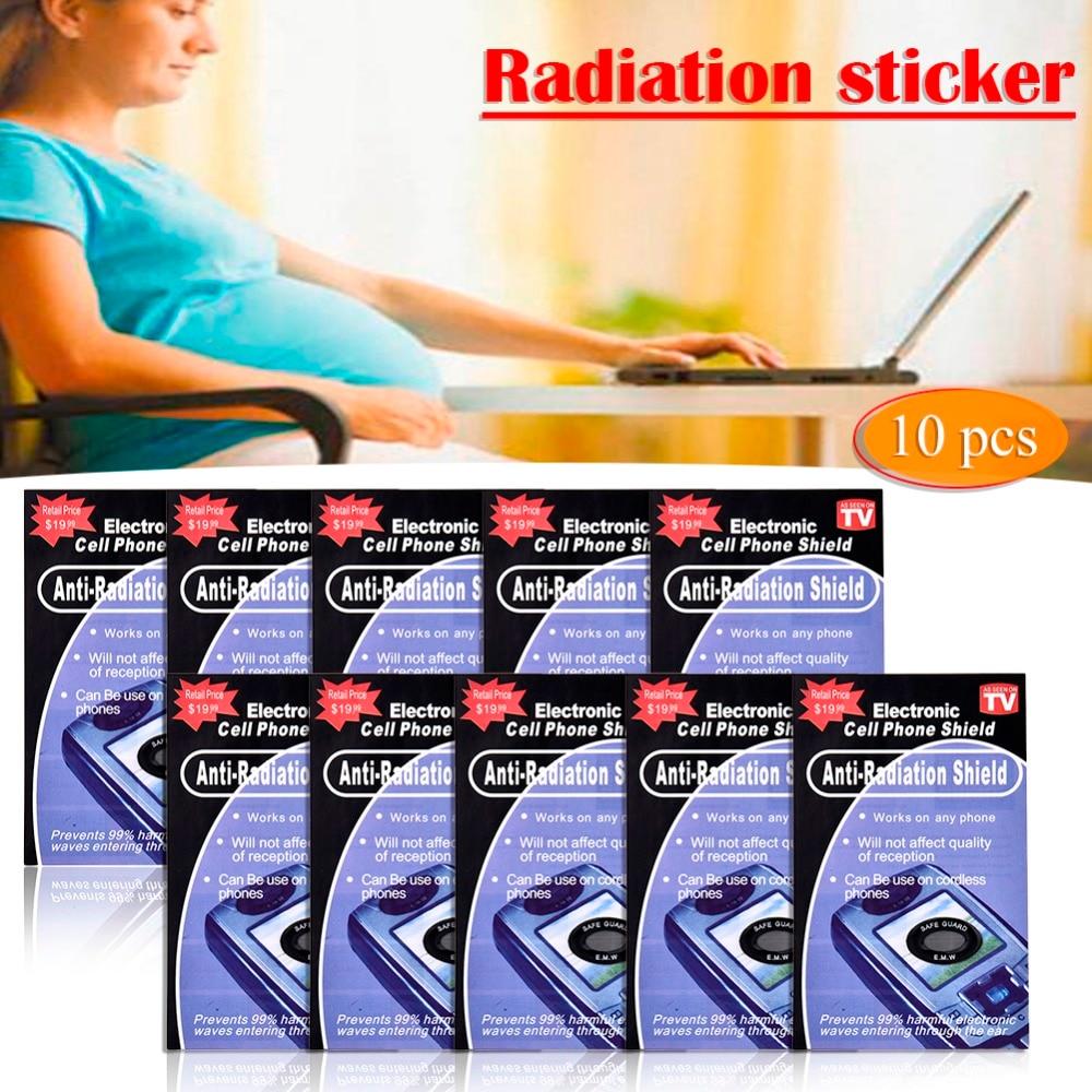 10 шт анти радиационная защита ЭДС щит наклейки для телефона смартфон домашнее радио RadiSafe Pegatinas Прямая поставка
