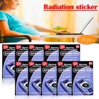 10PCS Anti Radiation Protection EMF Shield Phone Stickers Smartphone Home Radio RadiSafe Pegatinas Drop Shipping