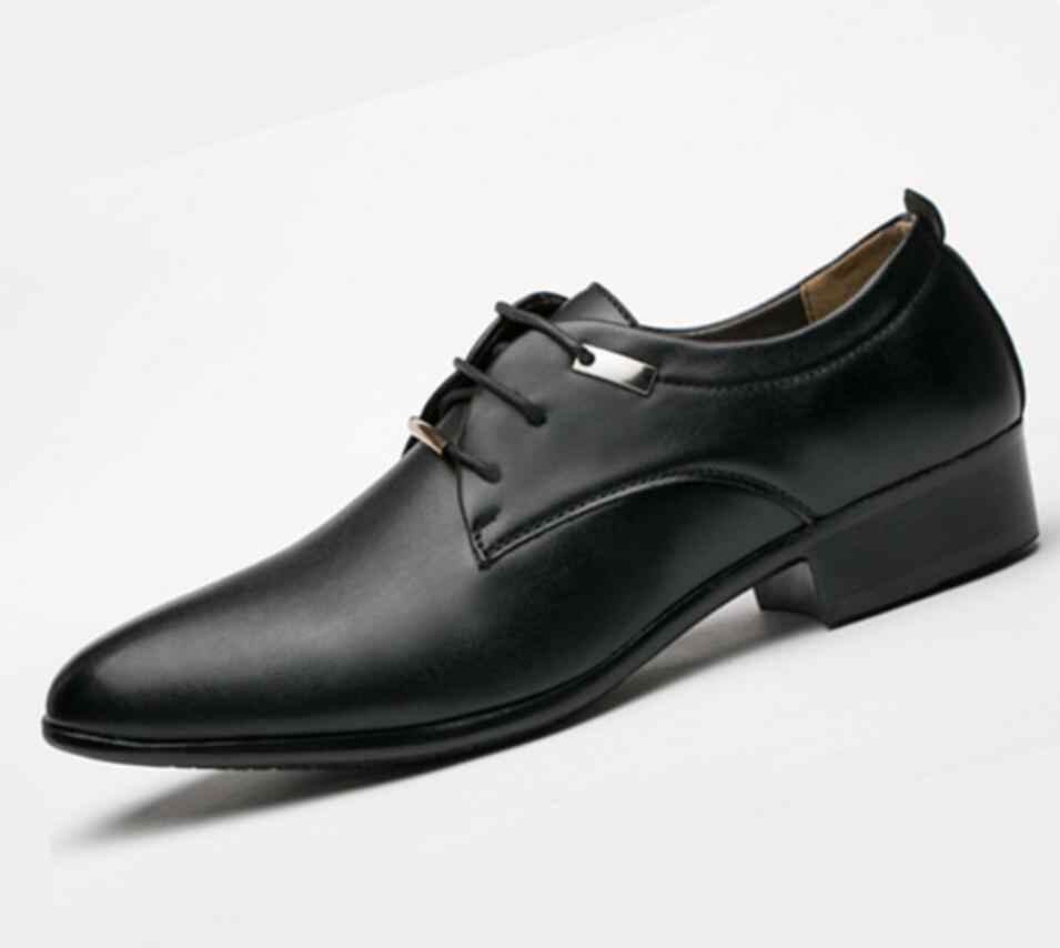 Fashion luxury Men Casual dress Shoes classic formal hombre designers Waterproof Leather Oxfords Male Office Flat Male loafers